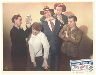 JINX MONEY MOVIE CAST - LOBBY CARD UNSIGNED (USA) 1948