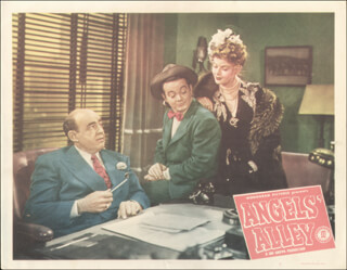 Autographs: ANGELS'' ALLEY MOVIE CAST - LOBBY CARD UNSIGNED (USA) 1948