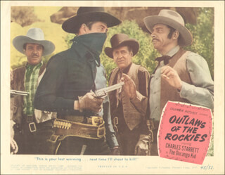 OUTLAWS OF THE ROCKIES MOVIE CAST - LOBBY CARD UNSIGNED (USA) 1945