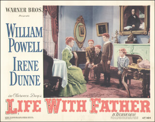 LIFE WITH FATHER MOVIE CAST - LOBBY CARD UNSIGNED (USA) 1947