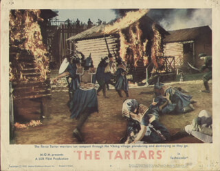 TARTARS MOVIE CAST - LOBBY CARD UNSIGNED (USA) 1961