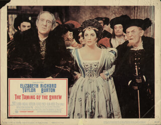 THE TAMING OF THE SHREW MOVIE CAST - LOBBY CARD UNSIGNED (USA) 1967