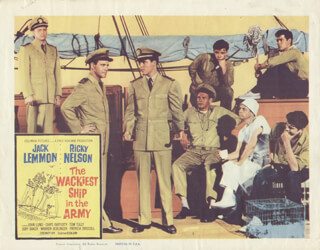 WACKIEST SHIP IN THE ARMY MOVIE CAST - LOBBY CARD UNSIGNED (USA) 1961