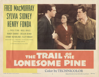 TRAIL OF THE LONESOME PINE MOVIE CAST - LOBBY CARD UNSIGNED (USA) 1955