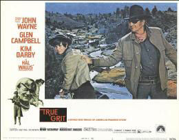 TRUE GRIT MOVIE CAST - LOBBY CARD UNSIGNED (USA) 1969