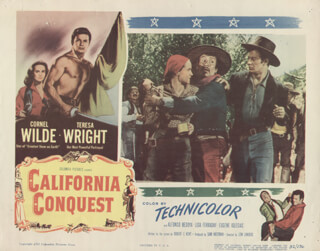 CALIFORNIA CONQUEST MOVIE CAST - LOBBY CARD UNSIGNED (USA) 1952