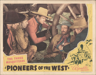 PIONEERS OF THE WEST MOVIE CAST - LOBBY CARD UNSIGNED (USA) 1940