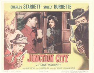 JUNCTION CITY MOVIE CAST - LOBBY CARD UNSIGNED (USA) 1952