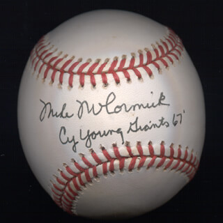 Autographs: MIKE FRANCIS MCCORMICK - BASEBALL SIGNED