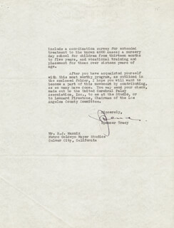 SPENCER TRACY - TYPED LETTER SIGNED 07/13/1950