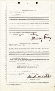 SAMMY DAVIS JR. - DOCUMENT SIGNED 10/15/1973