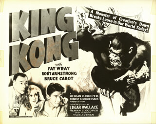 KING KONG MOVIE CAST - PHOTOGRAPH UNSIGNED 1933