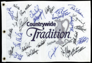 Autographs: BOB MURPHY - FLAG SIGNED CO-SIGNED BY: TOM SHAW, BOB GILDER, MARK HAYES, MIKE SMITH, TERRY DILL, JIM AHERN, FRANK CONNER, WALTER HALL