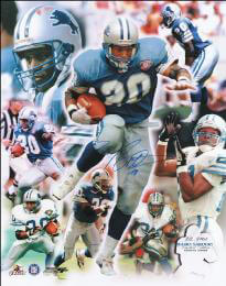 BARRY SANDERS - AUTOGRAPHED SIGNED POSTER