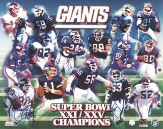 Autographs: OTTIS J. ANDERSON - POSTER SIGNED CO-SIGNED BY: HARRY CARSON, JOE MORRIS, SEAN LANDETA