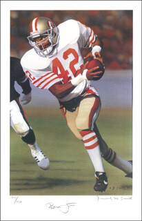 RONNIE LOTT - AUTOGRAPHED SIGNED POSTER CO-SIGNED BY: DANIEL M. SMITH