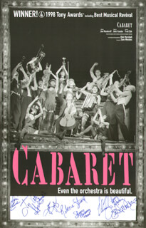 CABARET PLAY CAST - AUTOGRAPHED SIGNED POSTER CO-SIGNED BY: LORI EURE, KATE SHINDLE, JAY GOEDE, JOSHUA JUDGE, REBECCA STUARD, SHANA MAHONEY, STACEY SIPOWICZ, LENORA NEMETZ