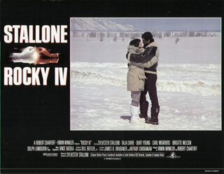 ROCKY IV MOVIE CAST - LOBBY CARD UNSIGNED (USA) 1995