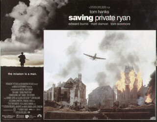 SAVING PRIVATE RYAN MOVIE CAST - LOBBY CARD UNSIGNED (USA) 1998