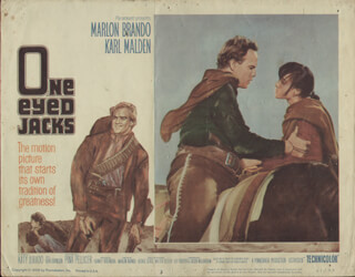 ONE EYED JACKS MOVIE CAST - LOBBY CARD UNSIGNED (USA) 1959
