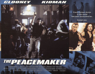 PEACEMAKER MOVIE CAST - LOBBY CARD UNSIGNED (USA) 1997
