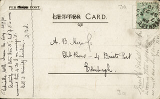 Autographs: GEORGE BERNARD SHAW - AUTOGRAPH NOTE SIGNED 09/23/1910