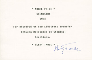 Autographs: HENRY TAUBE - TYPED CARD SIGNED