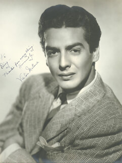 VICTOR MATURE - AUTOGRAPHED INSCRIBED PHOTOGRAPH