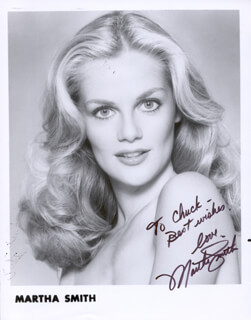MARTHA SMITH - AUTOGRAPHED INSCRIBED PHOTOGRAPH