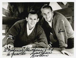 THE SMOTHERS BROTHERS - AUTOGRAPHED INSCRIBED PHOTOGRAPH CO-SIGNED BY: SMOTHERS BROTHERS (DICK SMOTHERS), SMOTHERS BROTHERS (TOM SMOTHERS)