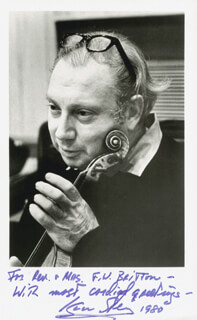 ISAAC STERN - AUTOGRAPHED INSCRIBED PHOTOGRAPH 1980