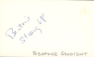 BEATRICE STRAIGHT - AUTOGRAPH