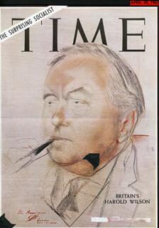 PRIME MINISTER HAROLD WILSON (GREAT BRITAIN) - MAGAZINE COVER UNSIGNED