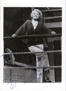 ELAINE STRITCH - AUTOGRAPHED INSCRIBED PHOTOGRAPH 12/22/1961