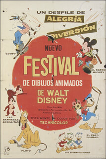 Autographs: WALT DISNEY PRODUCTIONS - POSTER UNSIGNED