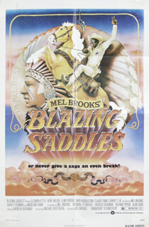 BLAZING SADDLES MOVIE CAST - POSTER UNSIGNED