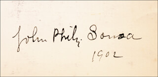 JOHN PHILIP THE MARCH KING SOUSA - AUTOGRAPH 1902