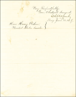 MAJOR GENERAL EDWARD R. CANBY - MANUSCRIPT LETTER SIGNED 02/01/1864