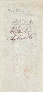 JAY COOKE - BILL OF EXCHANGE SIGNED 01/19/1871