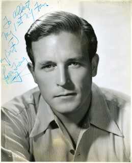 LAWRENCE TIERNEY - AUTOGRAPHED INSCRIBED PHOTOGRAPH