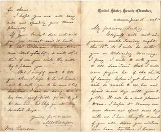 BRIGADIER GENERAL MATT W. RANSOM - AUTOGRAPH LETTER SIGNED 06/15/1878