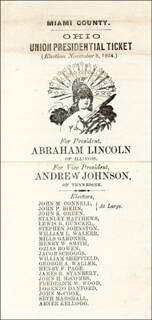 Autographs: PRESIDENT ABRAHAM LINCOLN - DOCUMENT UNSIGNED 1864