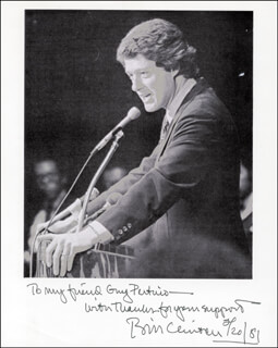 PRESIDENT WILLIAM J. BILL CLINTON - AUTOGRAPHED INSCRIBED PHOTOGRAPH 02/20/1981