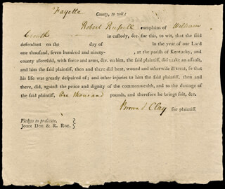Autographs: HENRY CLAY - DOCUMENT SIGNED