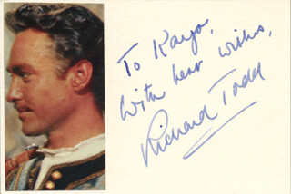 RICHARD TODD - INSCRIBED SIGNATURE