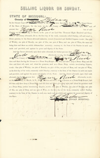 ISAAC C. THE HANGING JUDGE PARKER - DOCUMENT SIGNED CIRCA 1865