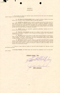 Autographs: JUDY GARLAND - CONTRACT SIGNED 01/04/1961