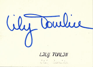 LILY TOMLIN - AUTOGRAPH