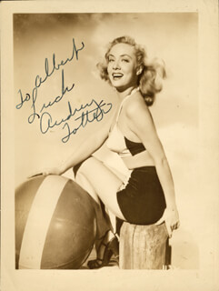 AUDREY TOTTER - AUTOGRAPHED INSCRIBED PHOTOGRAPH