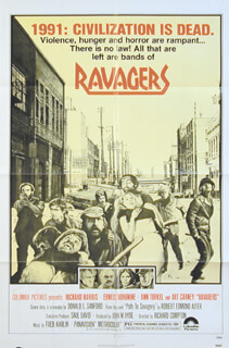 RAVAGERS MOVIE CAST - ORIGINAL ONE SHEET UNSIGNED CIRCA 1979